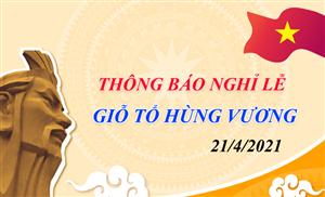 CS-Solution thông báo lịch nghỉ lễ Giỗ Tổ Hùng Vương 2021